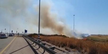 שריפה כביש 7